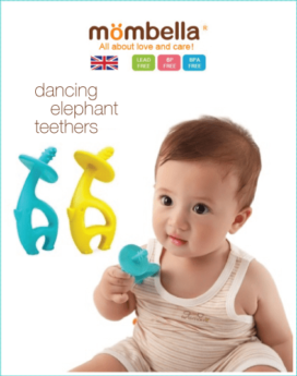[MOMBELLA] Teether Toys Dancing Elephant