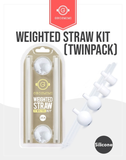 [Grosmimi] Weighted Straw Kit (Twin pack)