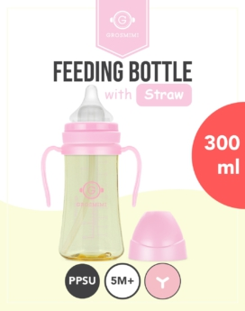 [Grosmimi] PPSU Straw Feeding bottle 300ml - 5M+
