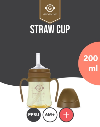 [Grosmimi] PPSU Functional Straw Cup 200ml