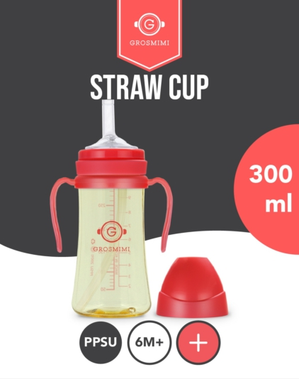 [Grosmimi] PPSU Functional Straw Cup 300ml