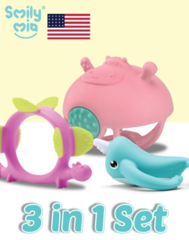 [Smily Mia] Teether Toys Set 3-In-1