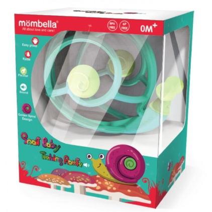 [MOMBELLA] Teether Toys Rattling Snail
